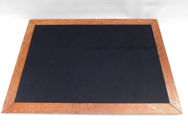 1920's Belgian Brass and Oak Art Deco Tray with Sunburst Design For Sale 3