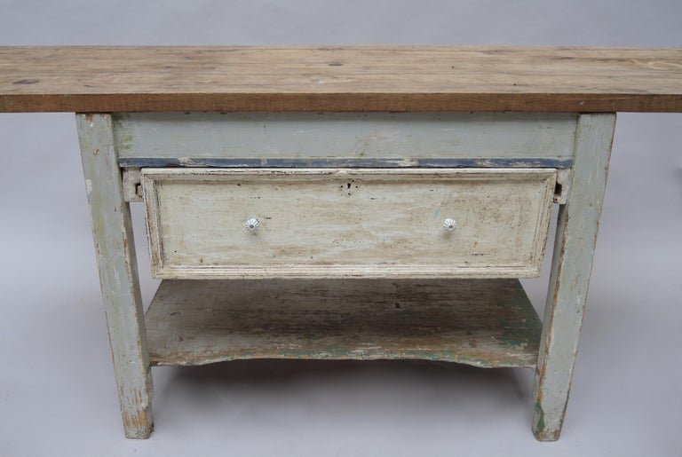 Rustic Kitchen Work Table or Serving Table For Sale 1