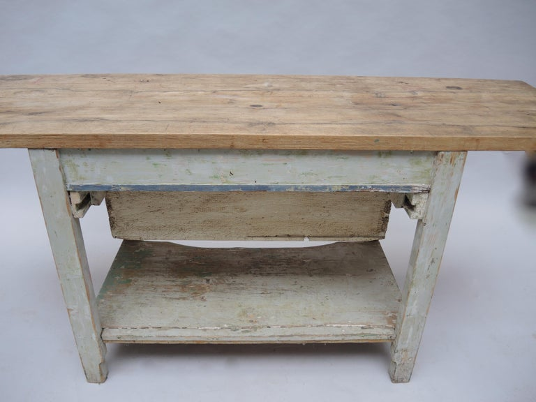 German Rustic Kitchen Work Table or Serving Table For Sale