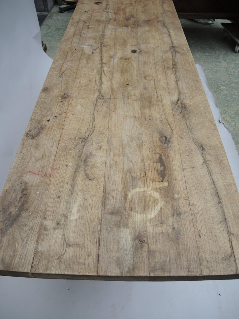 Rustic Kitchen Work Table or Serving Table For Sale 3