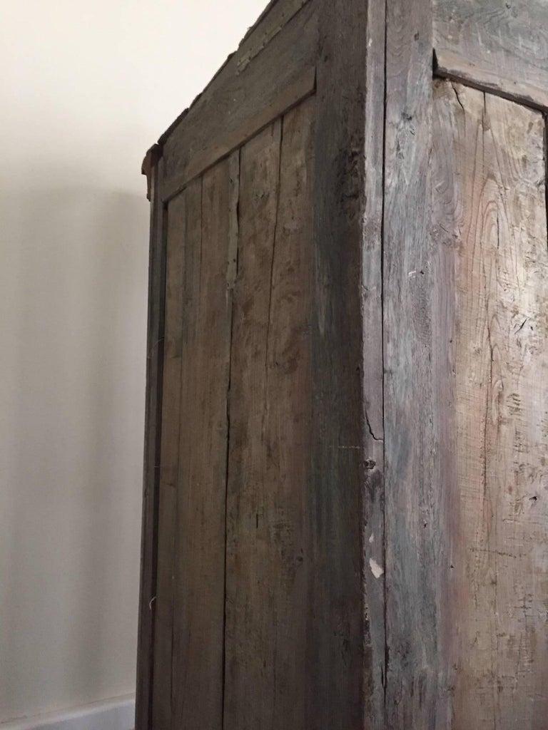 18th Century Dutch Baroque Walnut Corner Cabinet with Carved Cartouche Crown 5