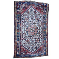 Small Semi-Antique Oriental Mat