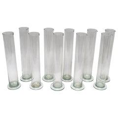 Antique Belgian Glass Chemistry Beaker Vases
