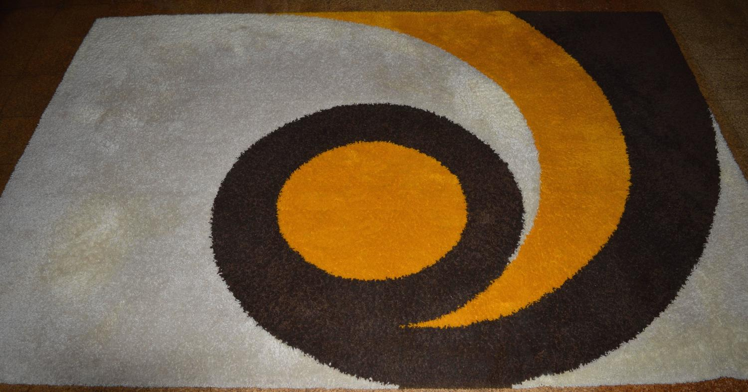 Large Mid Century Modern Dutch Wool Quot Rya Quot Carpet Made By