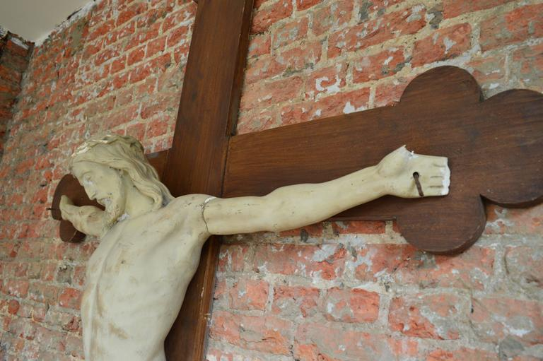 Over 6' Tall 19th Century Flemish Crucifix  For Sale 3