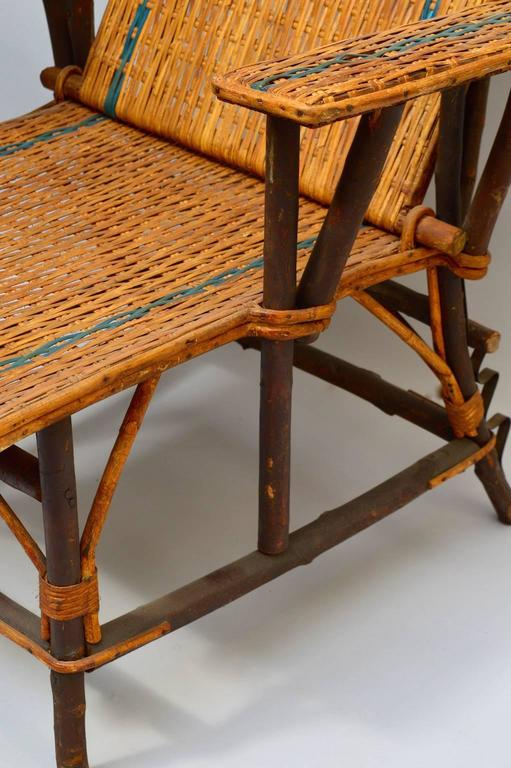 Circa 1910 French Woven Rattan Lounge Chair With Adjustable Back And  Removable Footrest. The Ultimate