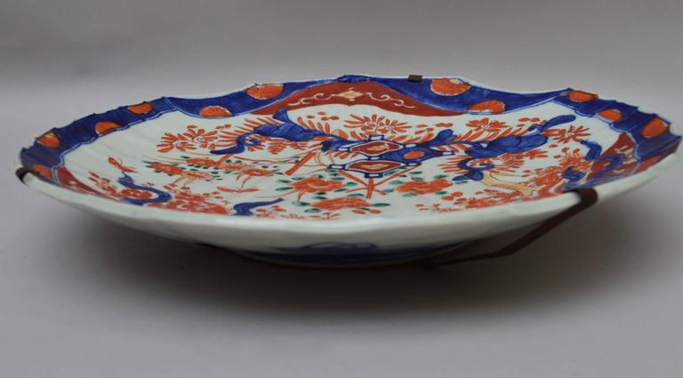 19th Century Japanese Imari Serving Plate In A Shell Form