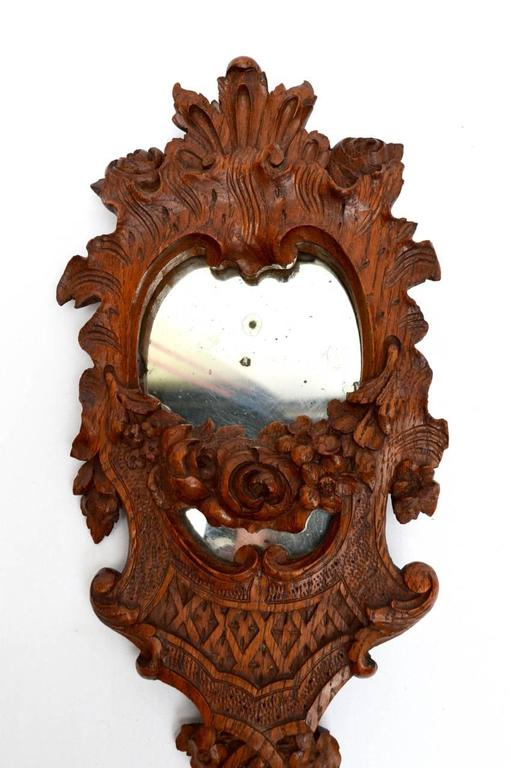 Th century french baroque revival hand mirror with