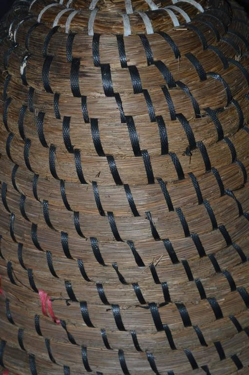 Woven Basket Building : Dutch woven basket bee skep or hive at stdibs
