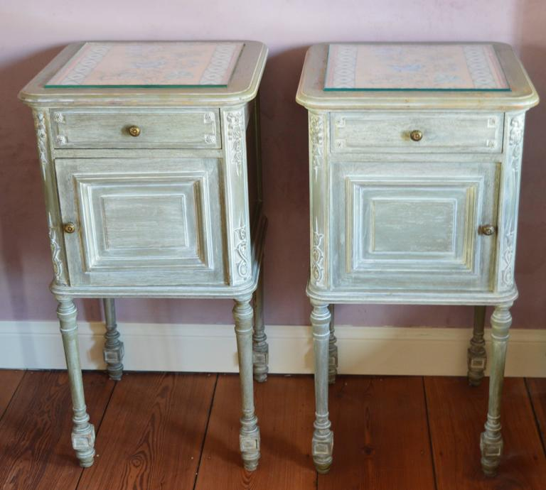 cabinets for bedroom pair of painted louis xvi style bedside cabinets 10972