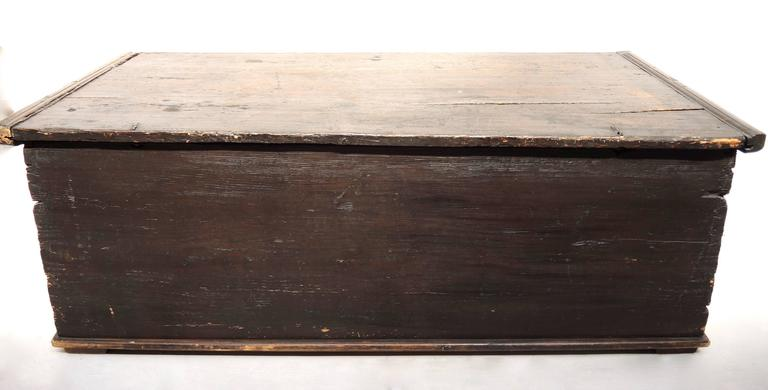 Hand-Painted Early 19th Century Swedish Painted Trunk For Sale