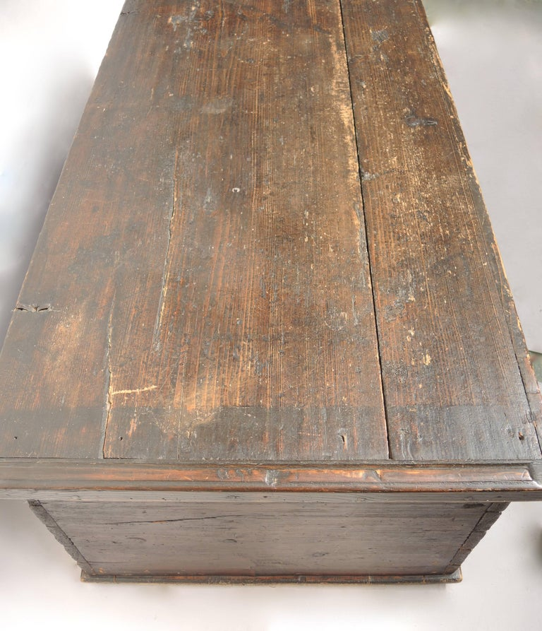 Early 19th Century Swedish Painted Trunk In Good Condition For Sale In Antwerp, BE