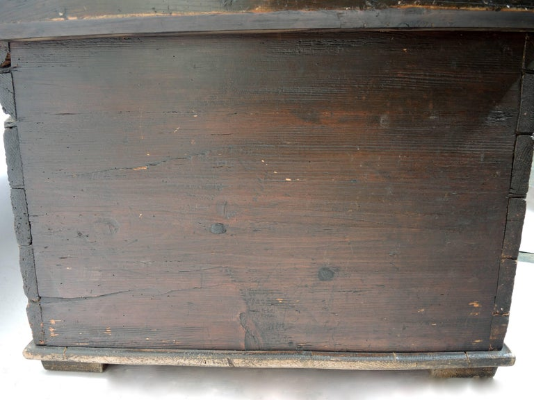Early 19th Century Swedish Painted Trunk For Sale 1