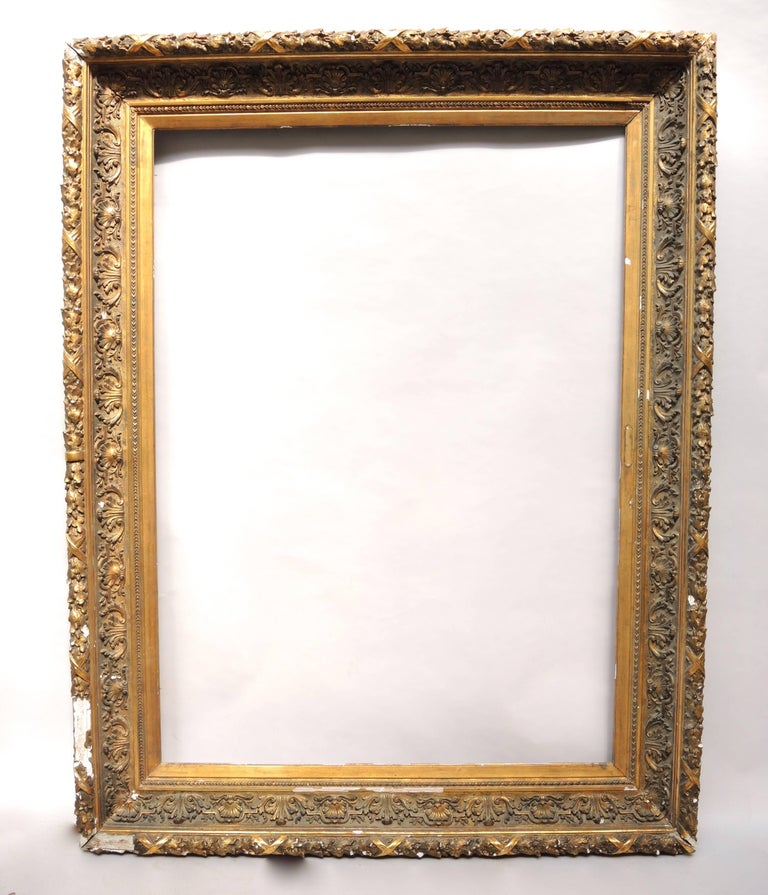 Huge 19th Century Dutch Gesso And Gilt Frame For Sale At 1stdibs