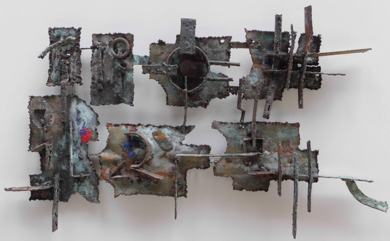 Midcentury Brutalist Copper Wall Sculpture by Jan Sergeant In Good Condition For Sale In Antwerp, BE