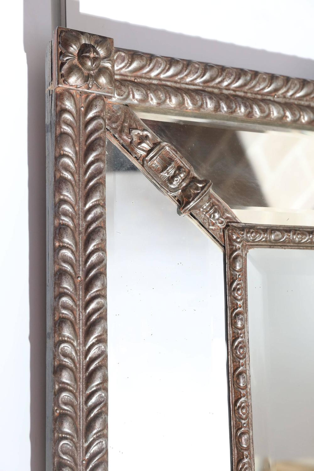 Large beveled mirror with decorative metal frame for sale for Tall mirrors for sale