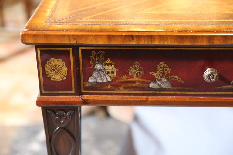Maitland Smith Mahogany Game Table With Play Boards At 1stdibs