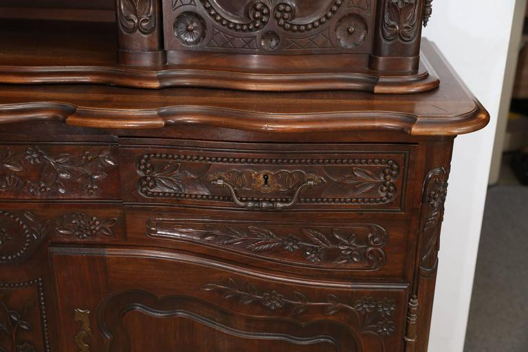 Louis XV French Mahogany Vaisselier For Sale