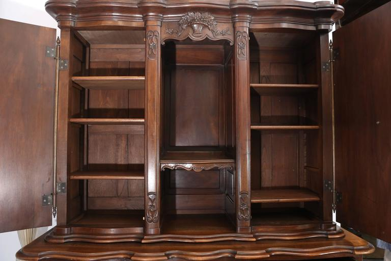 19th Century French Mahogany Vaisselier For Sale