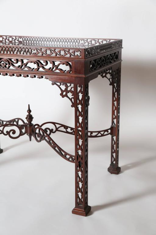 Baker Furniture Mahogany Fretwork Chinese Chippendale Tea Table 3