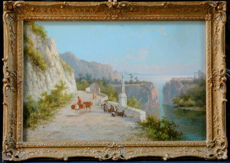 19th Century Pair of Signed Oil on Canvas Paintings by W. Dommersen For Sale