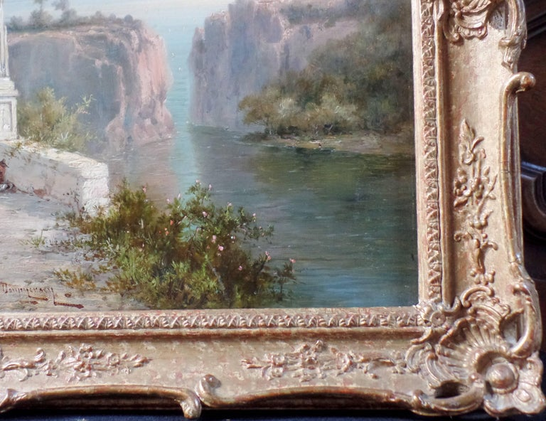 Pair of Signed Oil on Canvas Paintings by W. Dommersen For Sale 2