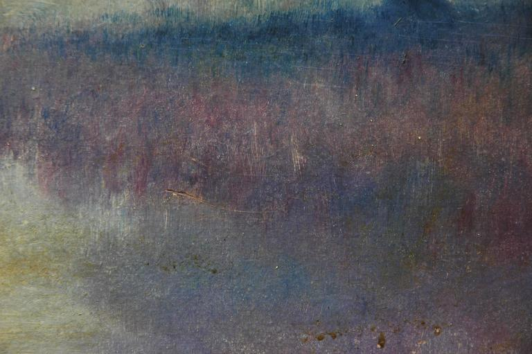 Alexander Drysdale Signed Oil Painting Of Louisianna Swamp With Oak