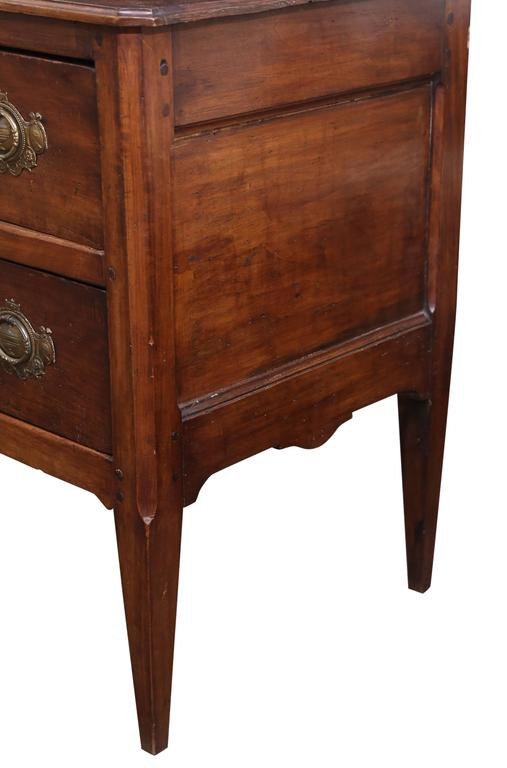 18th Century 19th Century, French Directoire Walnut Commode For Sale