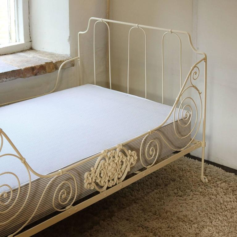 Rococo French Iron Daybed, MS23 For Sale