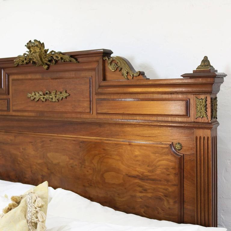 Empire style walnut bed wk68 at 1stdibs for American empire bedroom furniture