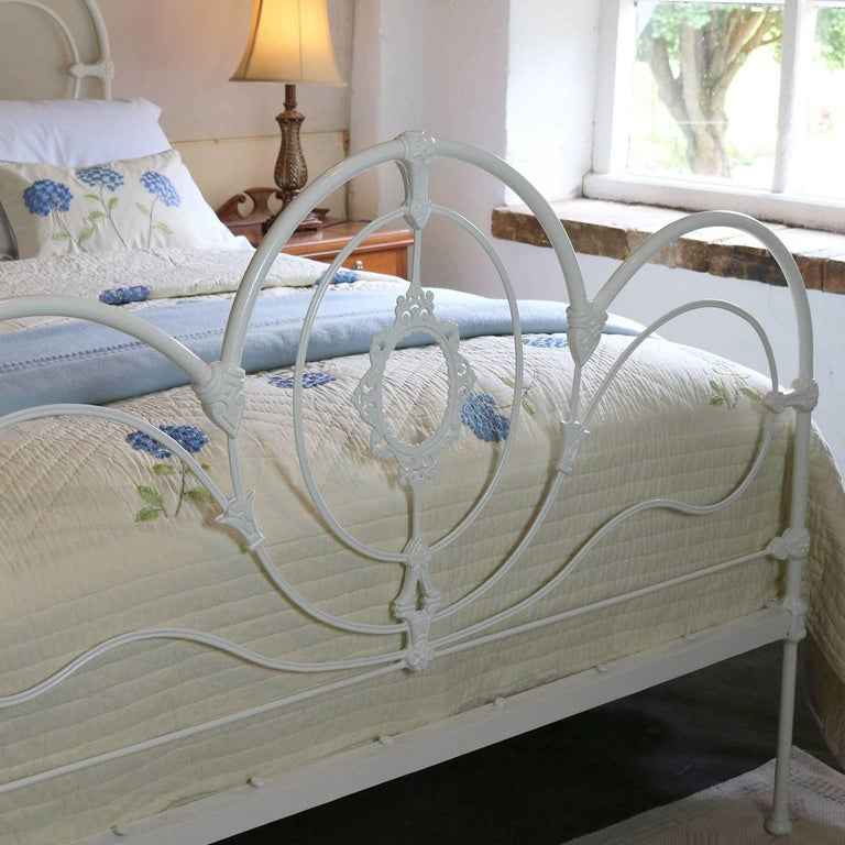 Cast iron bed in white mk116 for sale at 1stdibs for White beds for sale