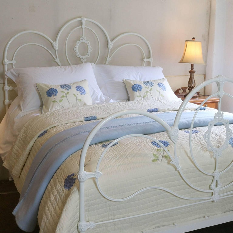 Cast Iron Bed In White Mk116 At 1stdibs