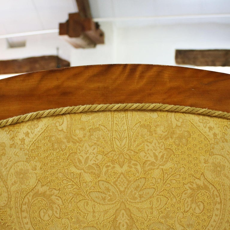 19th Century Satinwood Upholstered Bed, WK99 For Sale