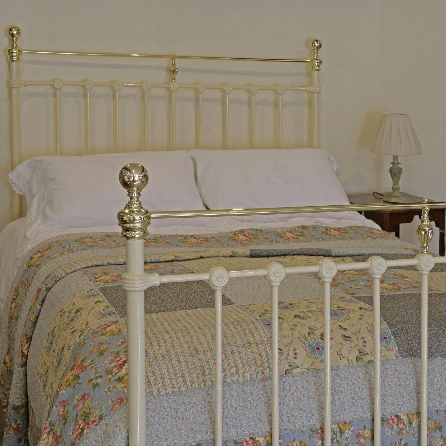 Victorian Cast Iron And Brass Bed Mk59 At 1stdibs