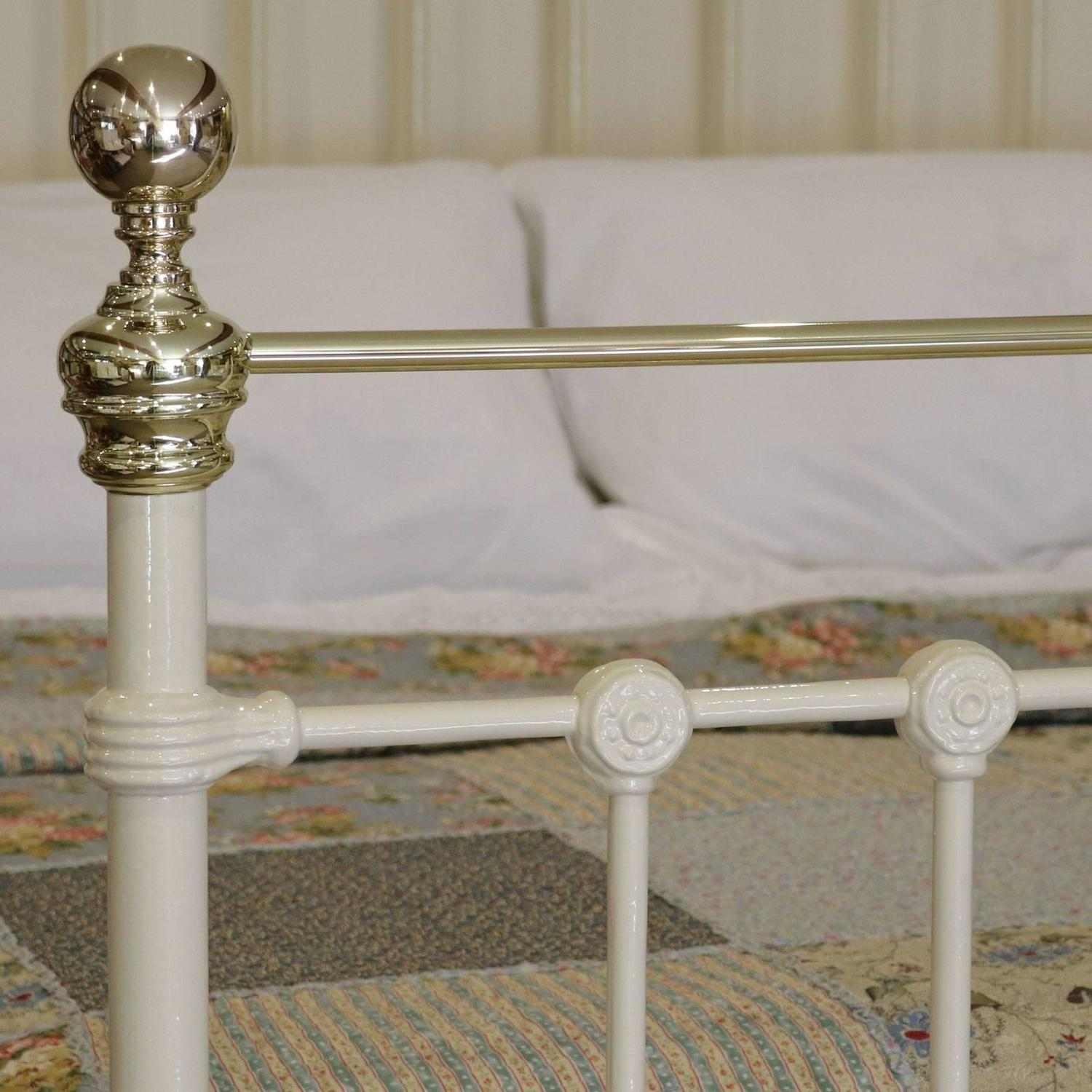 Victorian Cast Iron Beds : Victorian cast iron and brass bed mk at stdibs