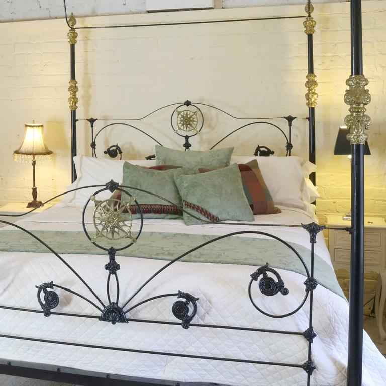 Cast Iron Four Poster Bed At 1stdibs