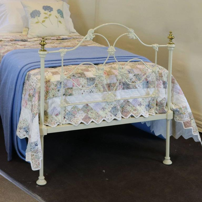 Victorian Cast Iron Beds : Mid victorian cast iron single bed at stdibs