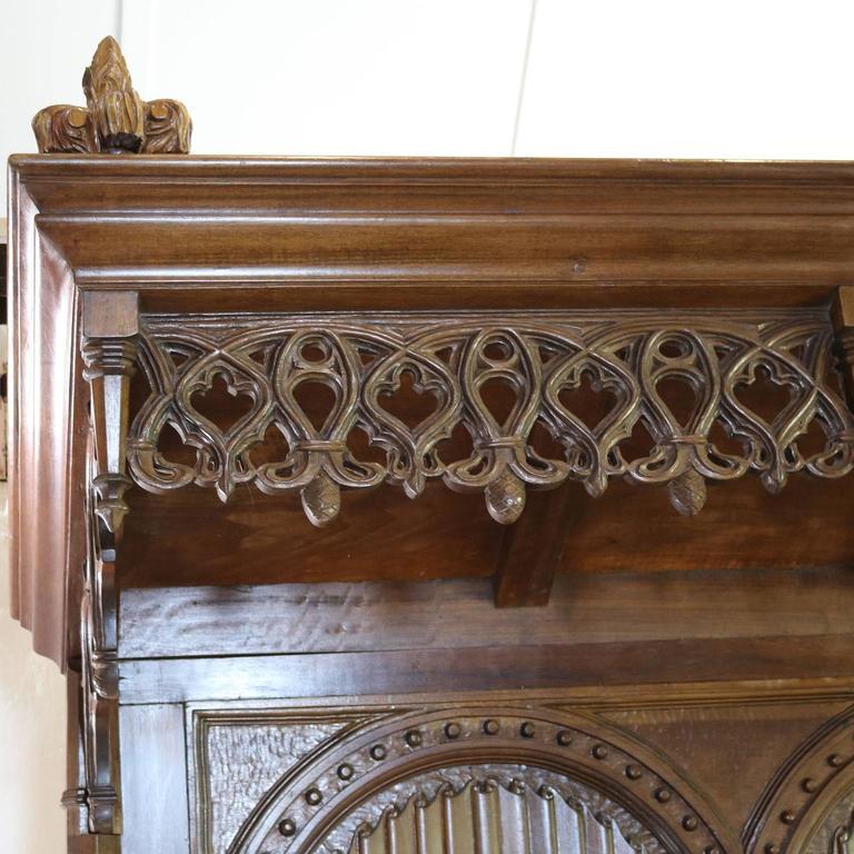 gothic mahogany half tester bed at 1stdibs. Black Bedroom Furniture Sets. Home Design Ideas
