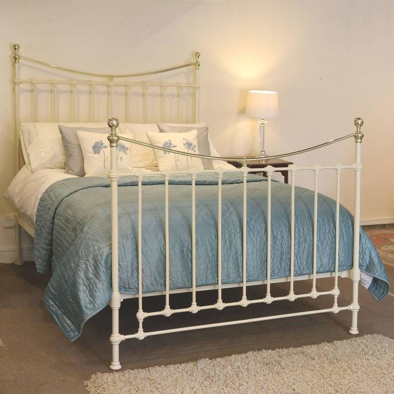 Cream brass and iron bed mk100 at 1stdibs American home furniture bed frames