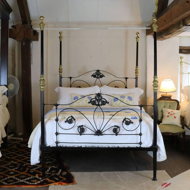 Cast Iron Four Poster Bed M4p24 For Sale At 1stdibs