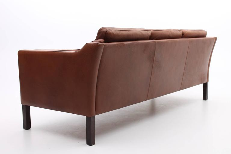 mid century leather sofa australia style legs chestnut brown danish modern furniture for sale melbourne