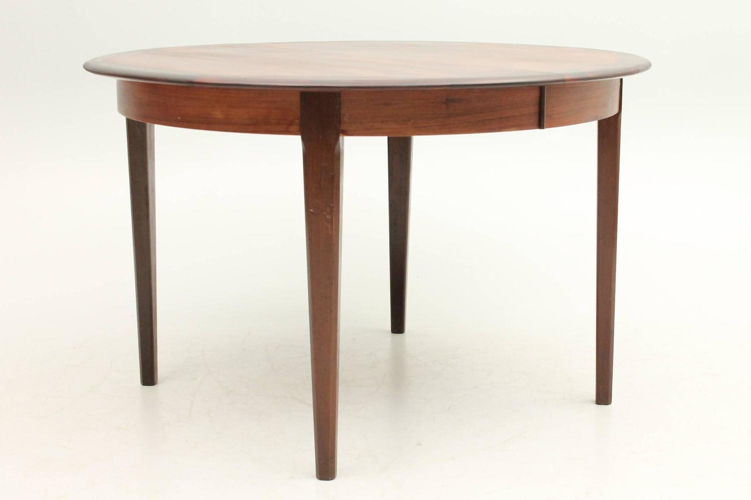 Rosewood Round Dining Table by Johannes Andersen at 1stdibs : 18az from www.1stdibs.com size 1500 x 1000 jpeg 45kB