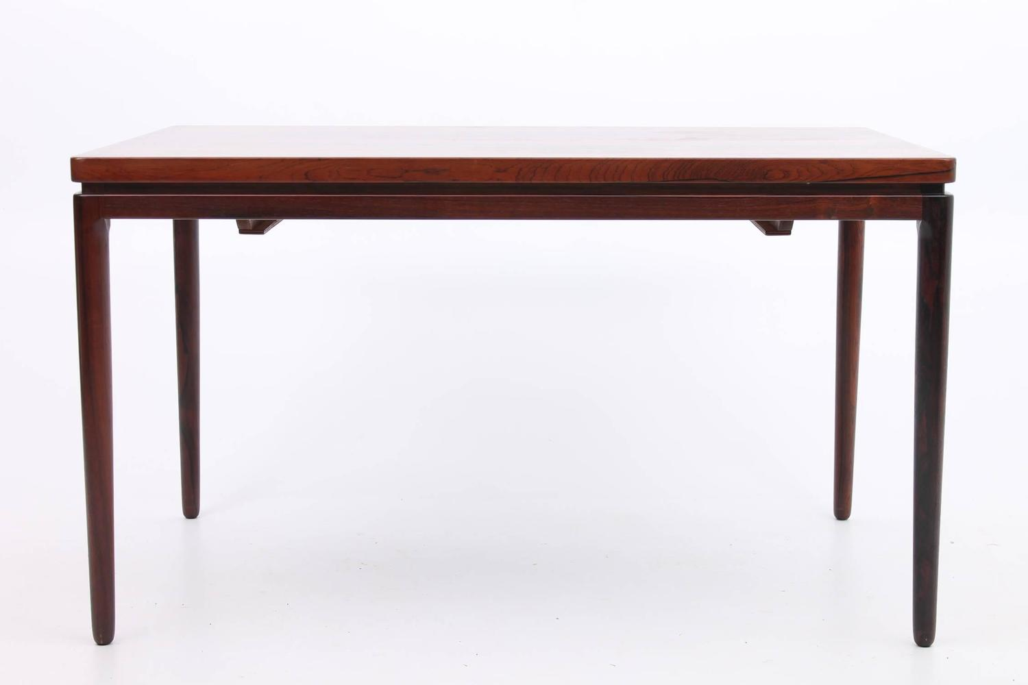 Dining Room Table With Hidden Leaves Large Rosewood Arne