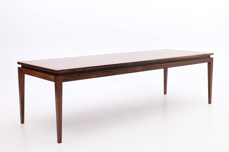 Beautiful Rosewood Coffee Table With Floating Table Top Danish, Mid Century Modern 3