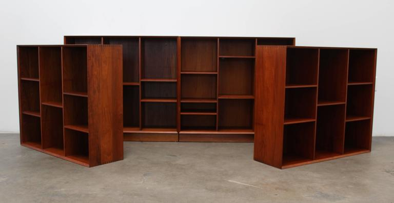 Solid Teak Hvidt & Mølgaard for Søborg Møbelfabrik Bookshelf or Wall Unit,1950s 2