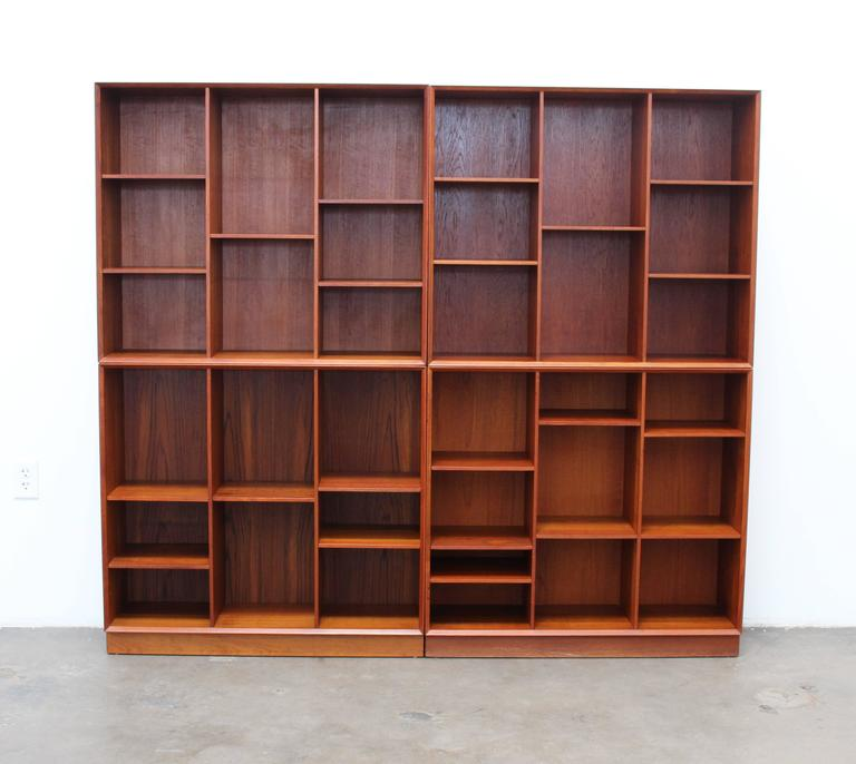 Solid Teak Hvidt & Mølgaard for Søborg Møbelfabrik Bookshelf or Wall Unit,1950s 5