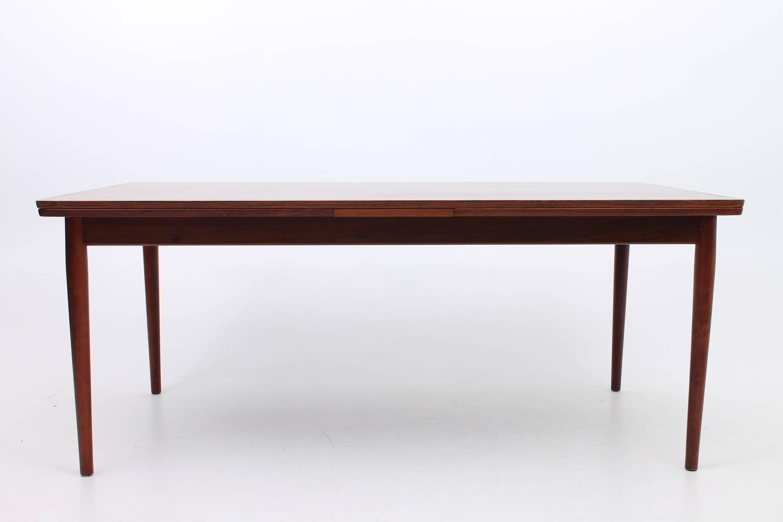 Large rosewood arne vodder for sibast furniture dining for Large kitchen tables with leaves