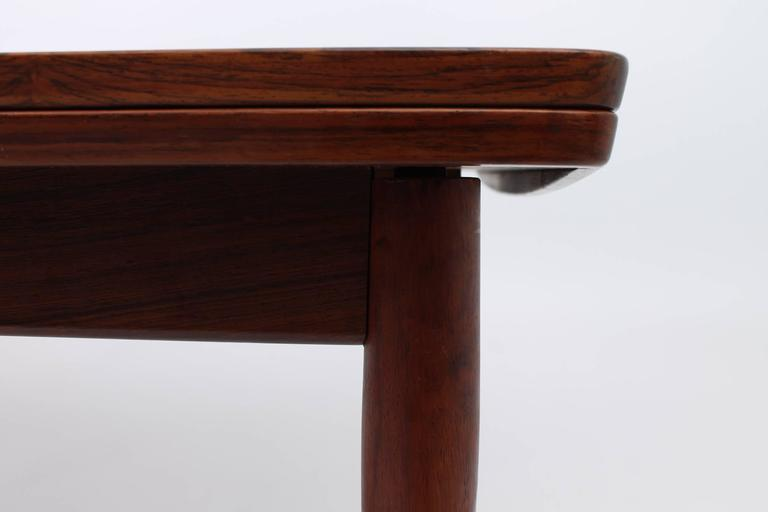 Wood Dining Tables With Leaves large rosewood arne vodder for sibast furniture dining table with