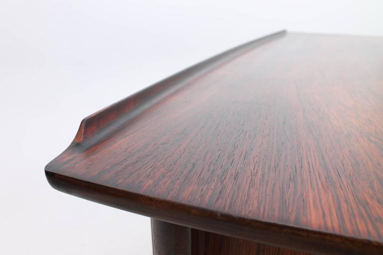 Rosewood Desk by Svend Aage Madsen for HP Hansen, Scandinavian Modern 4
