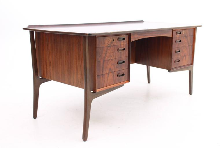 Rosewood Desk by Svend Aage Madsen for HP Hansen, Scandinavian Modern 6